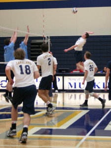 Men's volleyball team suffers loss in first game of the season