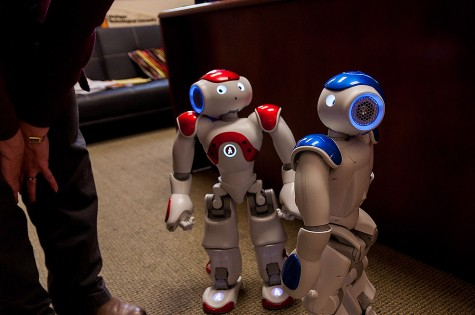 Robots, Chaz and Ada, will soon roam the halls of Chase