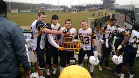 Photo Gallery: The Cheese Bowl trophy stays with Lakeland College