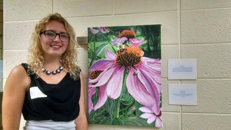 Students showcase art in Esch Library