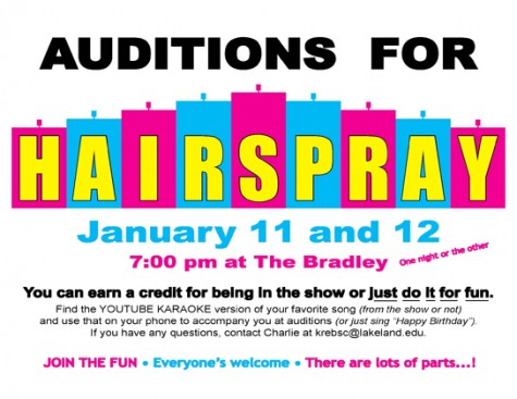 Auditions to be held for spring musical Hairspray