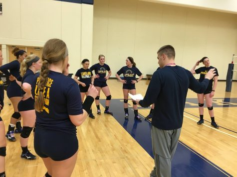 Volleyball coach balances two teams and life