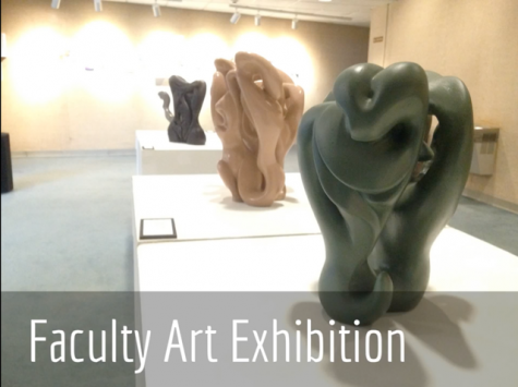 Video: Faculty show talents at art exhibition