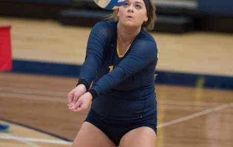 Women's volleyball competes in triangular