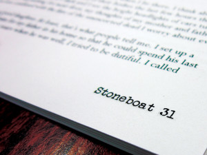 Stoneboat to publish special issue