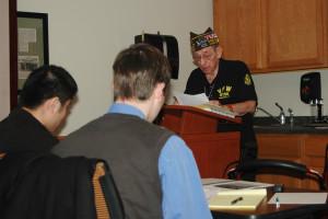 War stories: Core III students attend World War II presentation