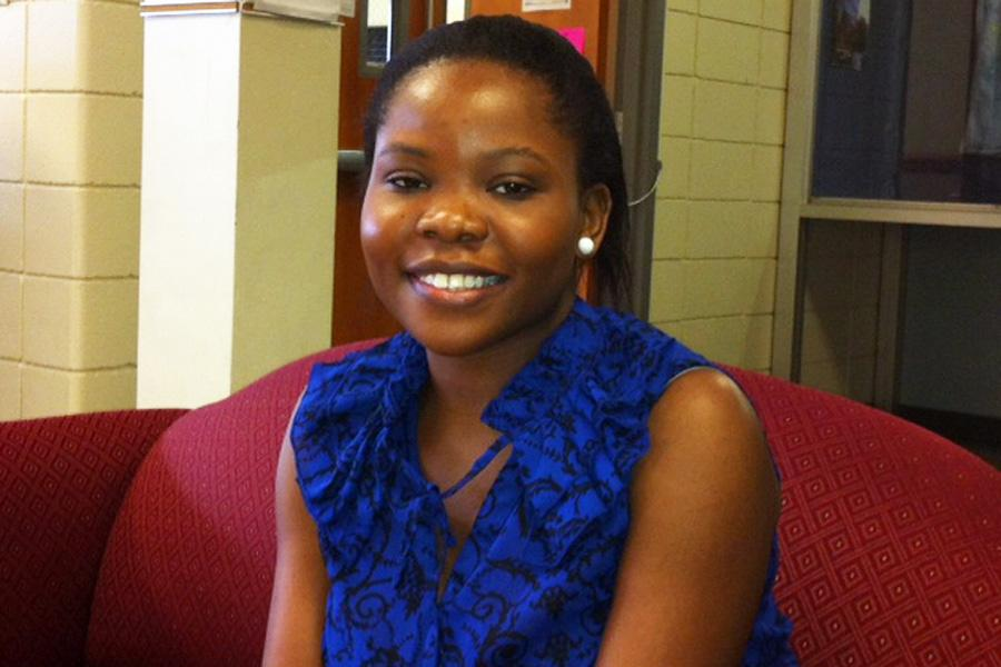 Senior Laurine Achieng hopes her story will encourage others