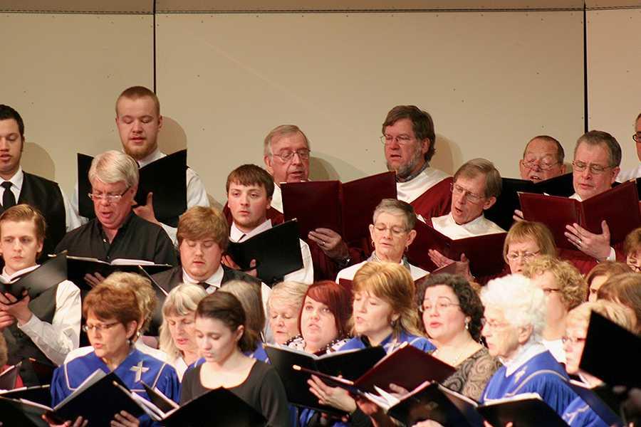 Local church choirs create collective concert