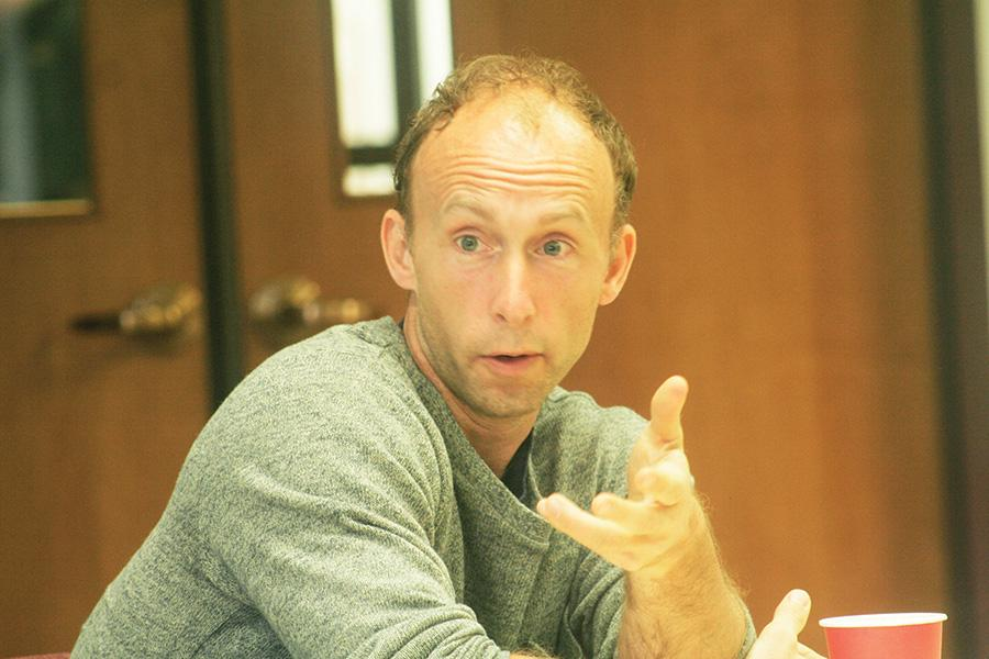 In the morning, best-selling author Chad Harbach spoke to writing and English majors about his process.