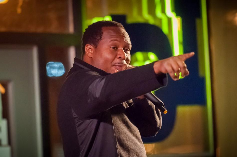 Roy Wood Jr. entertains students on Feb. 17 at the Pub.