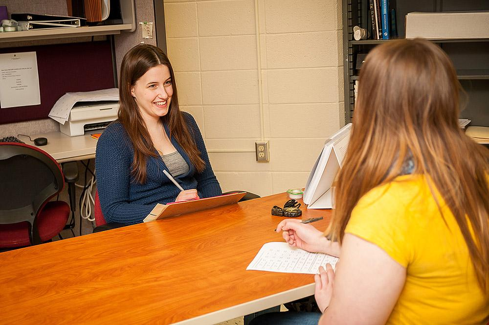Julie Bender, junior psychology major, is one of the students involved with the psychology study.