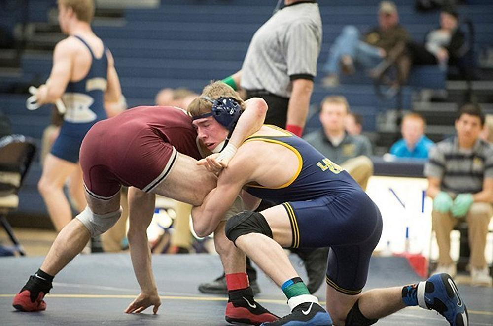 Mitchell Fucile, sophomore business major, has had a passion for wrestling since he was a child.