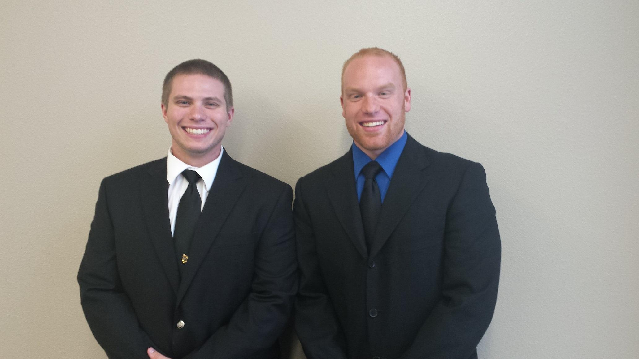 After coincidentally signing up at the same time, Joseph Van Oss, senior criminal justice major, and Cody Manders, 2015 Lakeland alum, bonded during their training at police academy, which took place at Fox Valley Technical College.