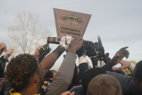 Muskie football wins conference title, sets sights on division title