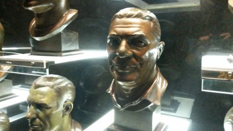 Pictures are of NFL Hall of Fame and Lombardi's enshrined head.