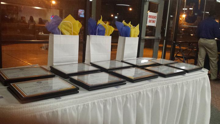 Each present soon-to-be graduate received a plaque of achievement, which was distributed by the success coach team.