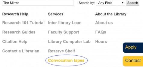 Convocation alternatives available