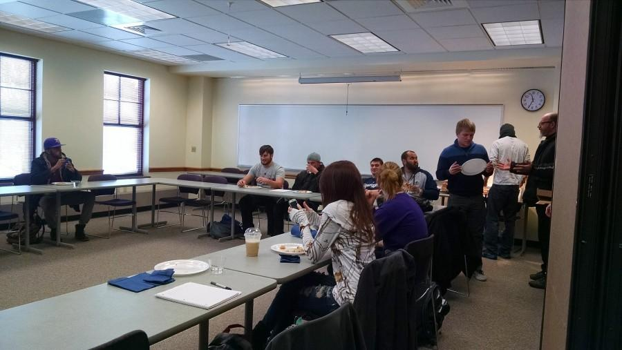 Several students, and one professor, were in attendance for the Lunch & Learn.