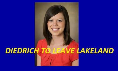 Diedrich to leave Lakeland