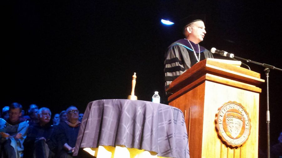 President Dan Eck rings in Lakeland's first year as a University