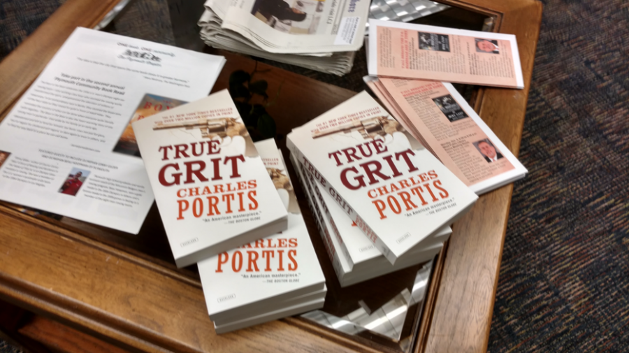 "true grit in the character of mattie in true grit by charles portis The winners of this year's big read contest made a compelling case that of the two main characters in charles portis' novel ""true grit,"" 14-year-old mattie ross has more grit than craggy, one-eyed us marshal rooster cogburn."