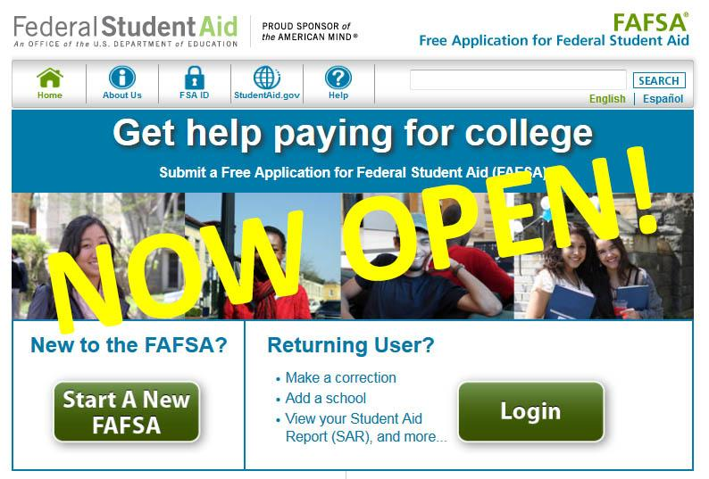 Changes made to Financial Aid application process