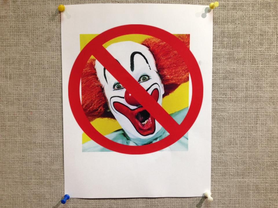 Anti-clown propaganda set in Verhulst.