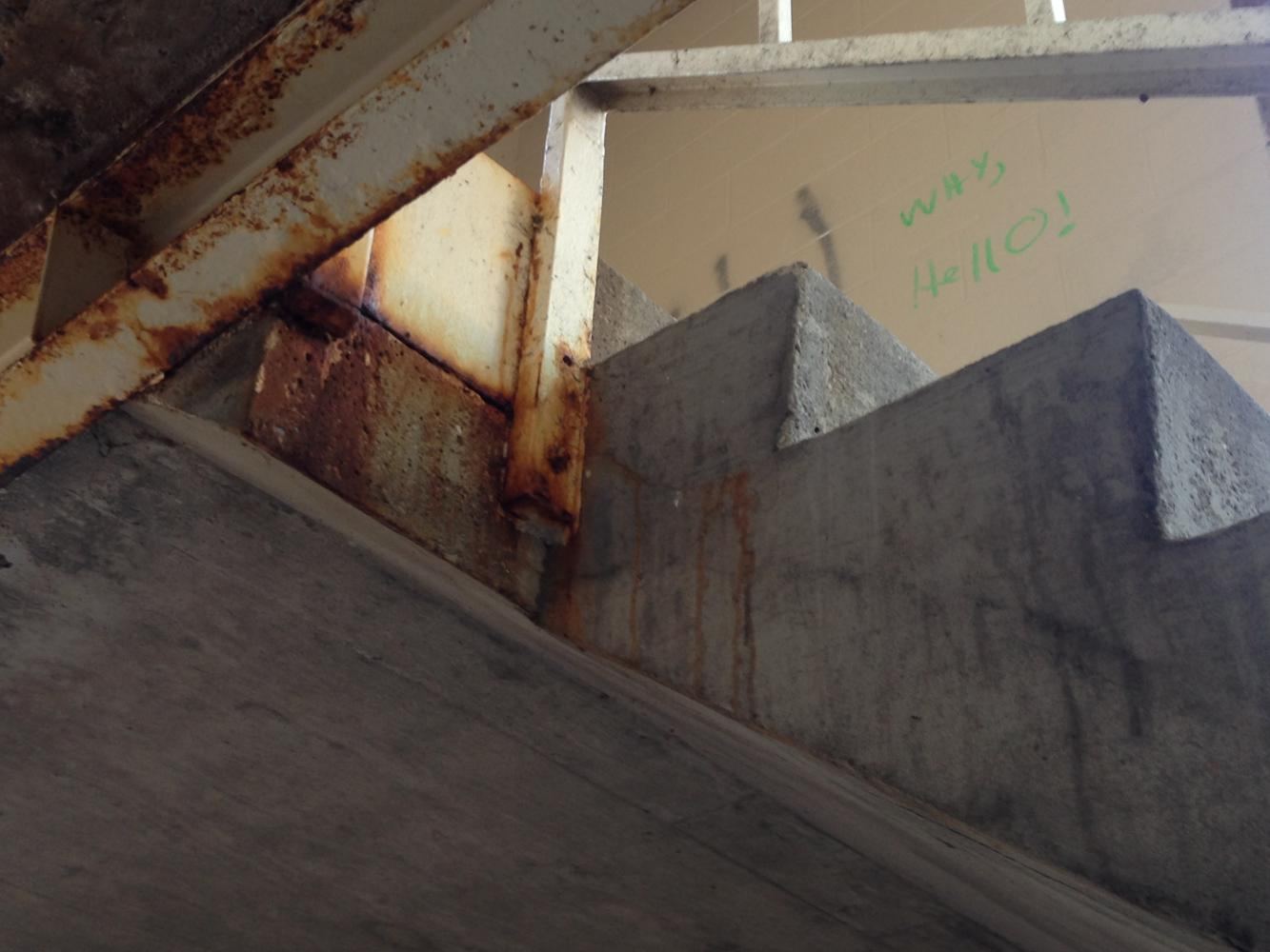 The second floor of Friedli is home to some innocent-sounding graffiti.