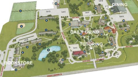 Lakeland Campus Map.Campus Center Closure Scatters Bookstore Cafeteria Tutoring