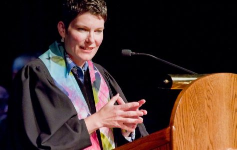 Reverend Rabe returns for opening convocation