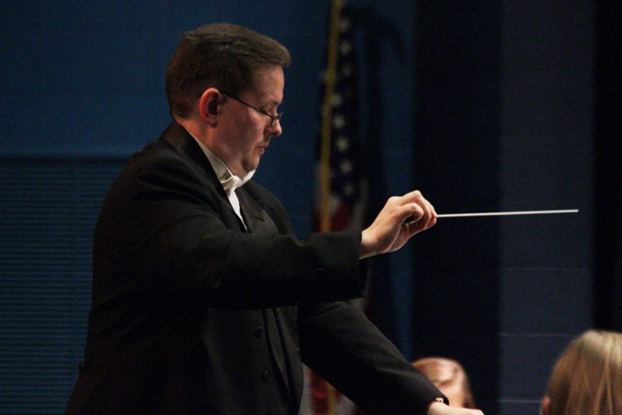 "Chancellor conducts ""Heart Songs"" at Fall Band Concert"