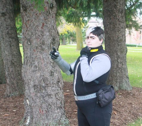 Freshman Vrba fearlessly cosplays on campus