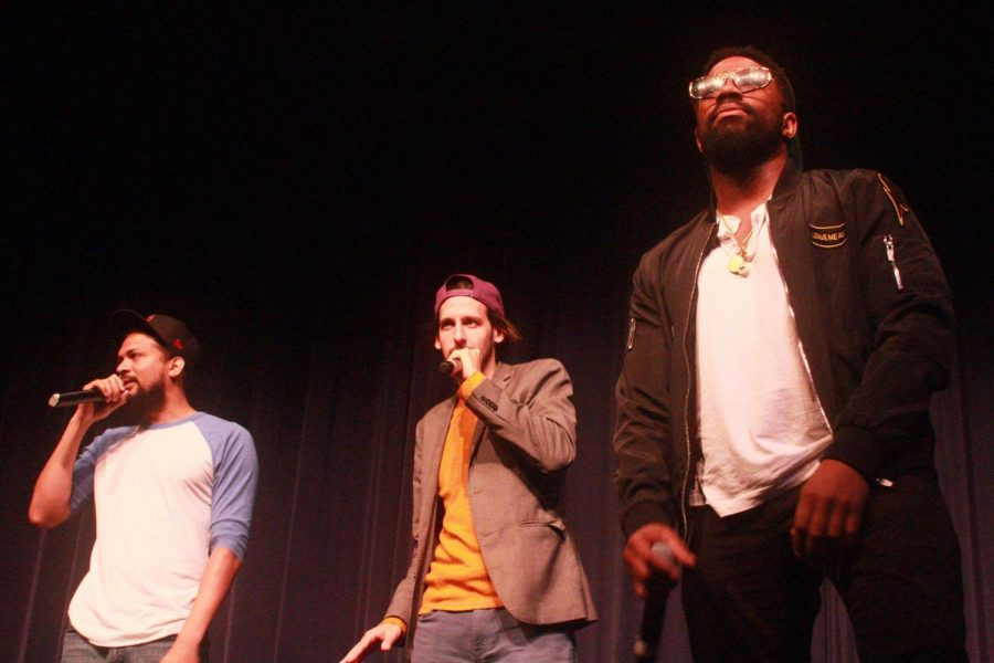The Mayhem Poets performed several group pieces before transitioning into solos.