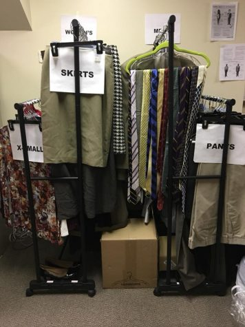 Professional clothing closet lends students business attire