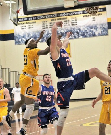 Men's basketball effort not enough to advance in NACC tourney