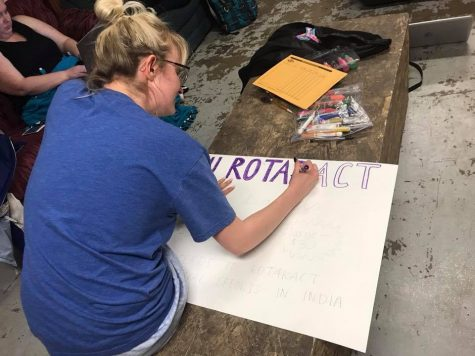 Senior Kapla shows love for art