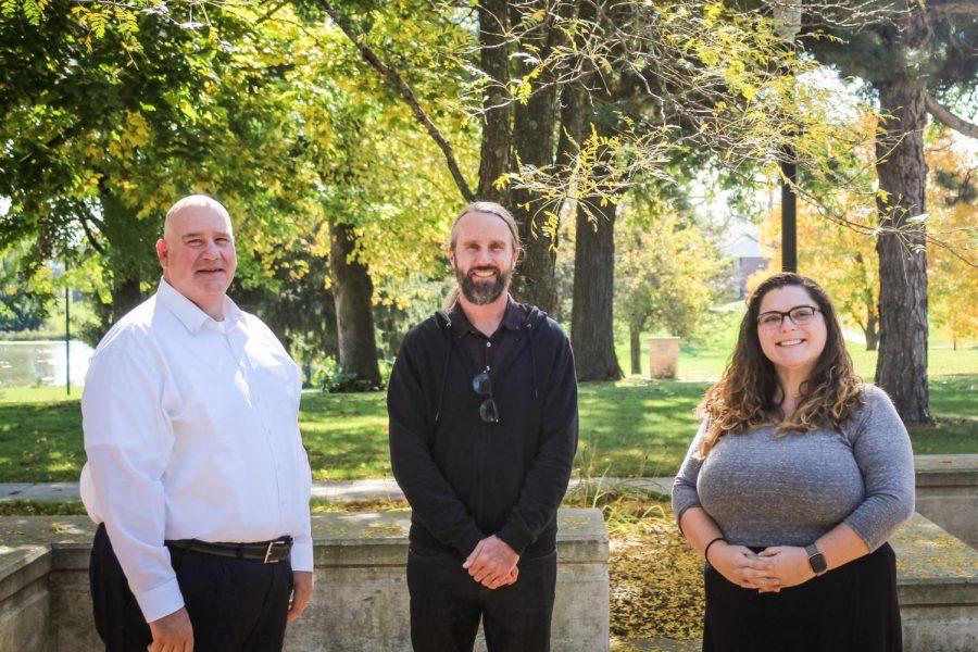 Lakeland University welcomes new faculty members Robert Callahan (left), Joseph Pollock (middle), and Aimee Burns (right).